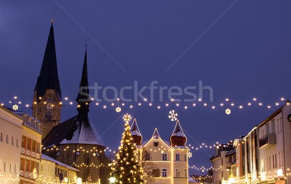 村 クリスマス 装飾 オーストリア 家 建物 ストックフォト © tepic