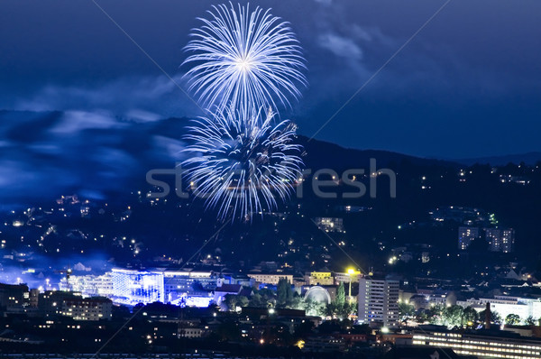 Firework at Blue Hour Stock photo © tepic