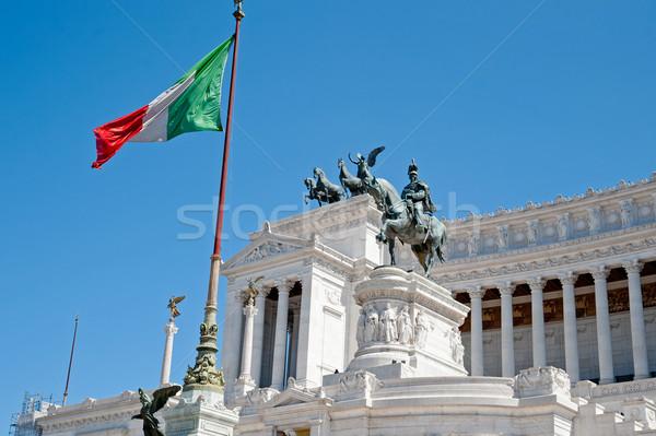 ローマ イタリア 市 建設 旅行 フラグ ストックフォト © tepic