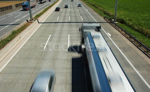 Elfoglalt autópálya teherautó autó bemozdult út Stock fotó © tepic