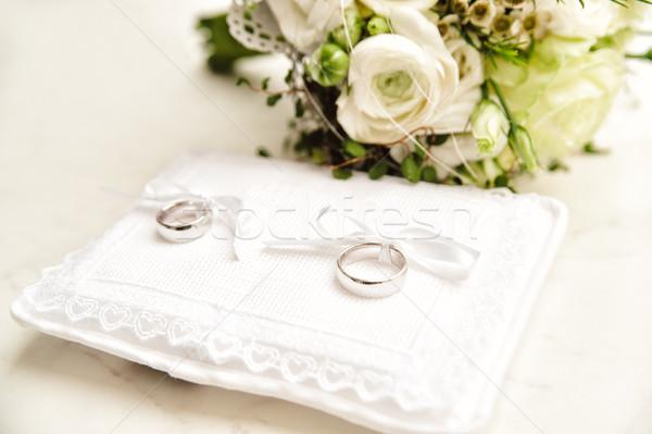 白 結婚指輪 ブライダル 花束 結婚式 カップル ストックフォト © tepic