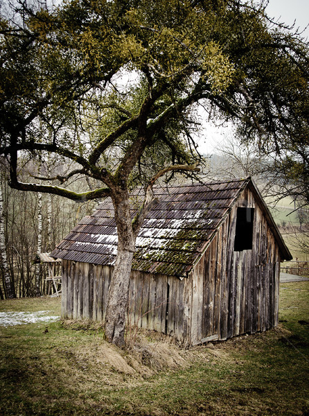Small wooden Barn Stock photo © tepic