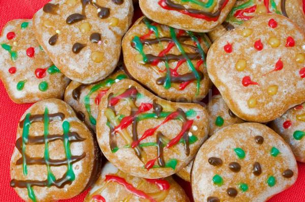 ジンジャーブレッド 砂糖 チョコレート 背景 グループ 赤 ストックフォト © tepic