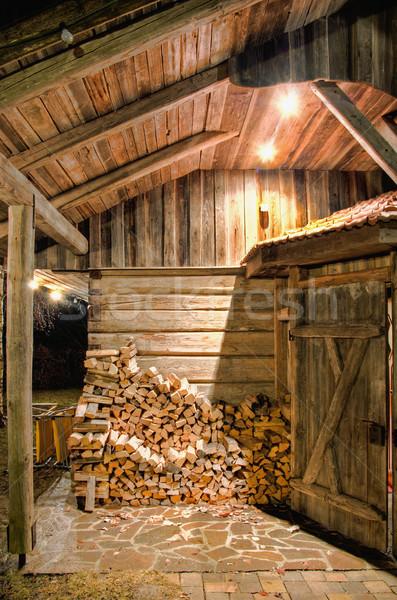 木製 納屋 1泊 詳細 建物 風景 ストックフォト © tepic