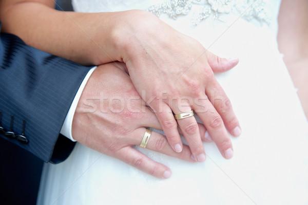 手 結婚式 カップル リング 手 男 ストックフォト © tepic