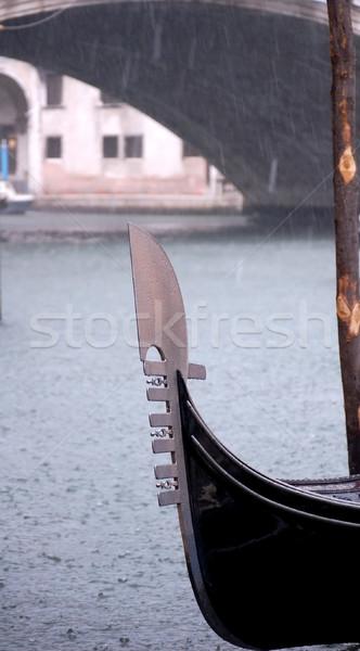 ゴンドラ 雨 水 夏 川 ヨーロッパ ストックフォト © tepic