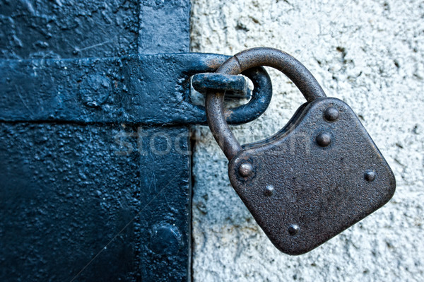Lock fer porte rouillée texture Photo stock © tepic
