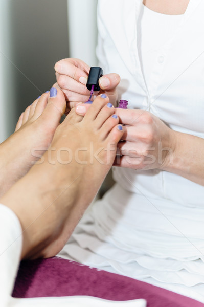 Pedicurist at Beauty Salon Stock photo © tepic