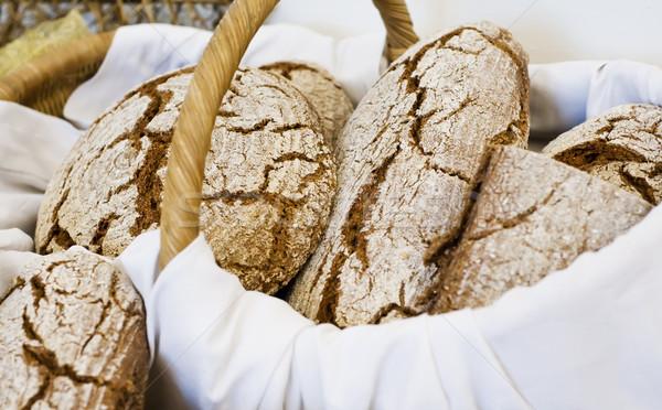 バスケット フル 新鮮な パン 健康 ストックフォト © tepic