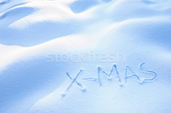 X-Mas in Snow Stock photo © tepic
