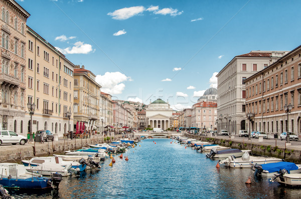 Canal Grande in Trieste Stock photo © tepic
