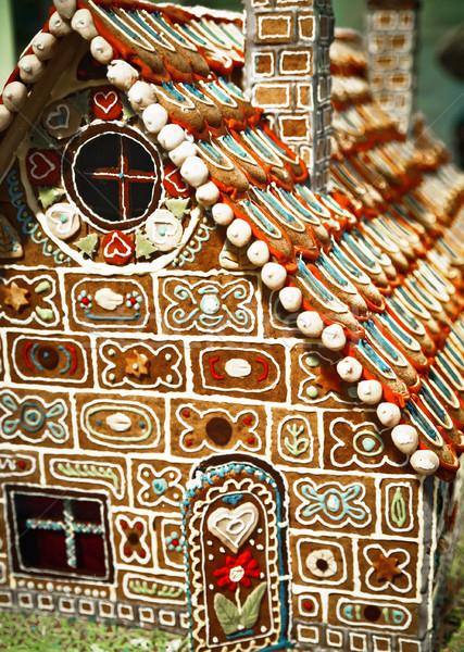 Bella pan di zenzero casa dettagliato zucchero decorazione Foto d'archivio © tepic