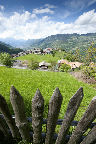 Wooden Fence in South Tyrol Stock photo © tepic