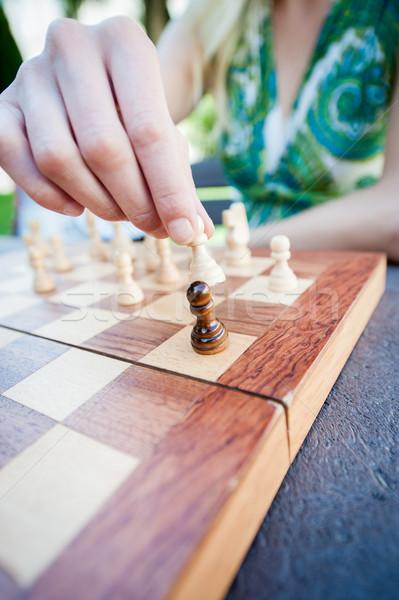 女性 作品 チェス 女性 手 ストックフォト © tepic