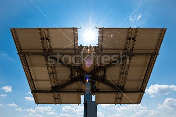 Solar Panel from Behind Stock photo © tepic