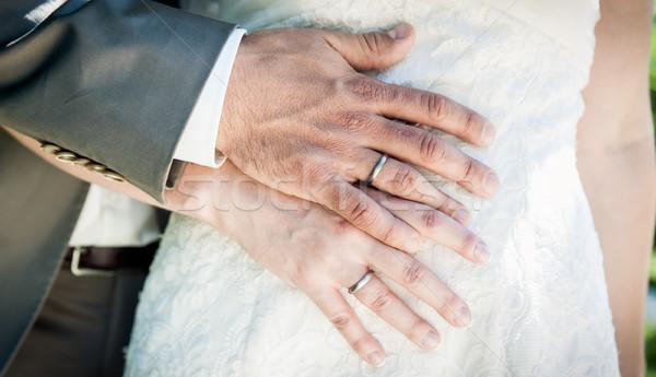 結婚式 カップル 手 ボディ 花嫁 女性 ストックフォト © tepic