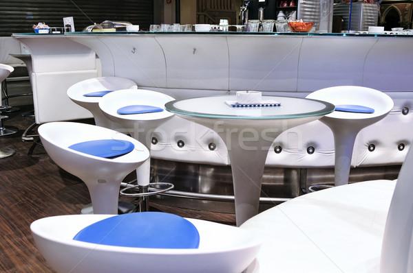 現代 白 カフェ 家具 ビジネス デザイン ストックフォト © tepic