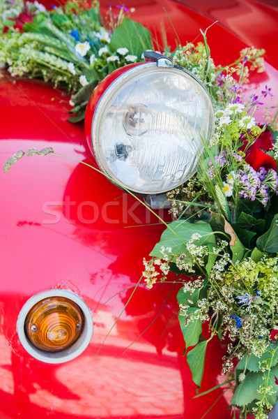 Lamp of a wedding car Stock photo © tepic