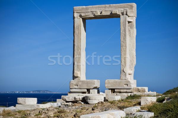 Tageszeit berühmt Wahrzeichen Raum Insel Romantik Stock foto © tepic