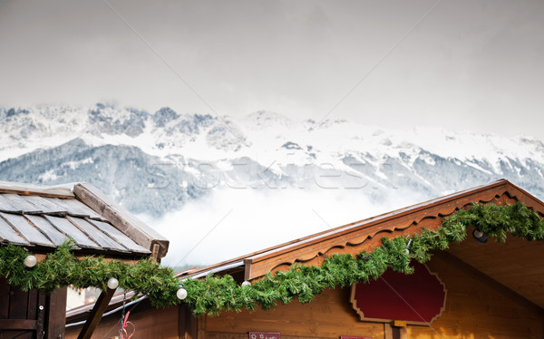 Christmas Market in the Alps Stock photo © tepic