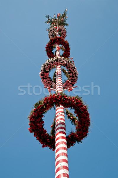 赤 縞模様の 空 春 青 ストックフォト © tepic