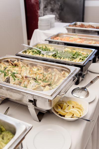 Voedsel keuze restaurant eten restaurant vlees groenten Stockfoto © tepic