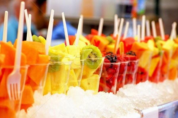 Fruit vruchten glas achtergrond aardbei energie Stockfoto © tepic
