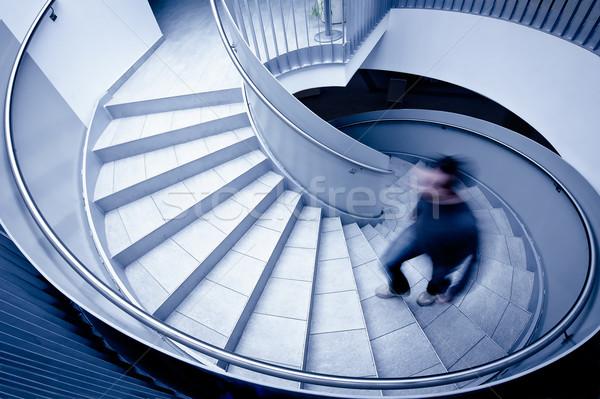 Man lopen omhoog stappen business Stockfoto © tepic