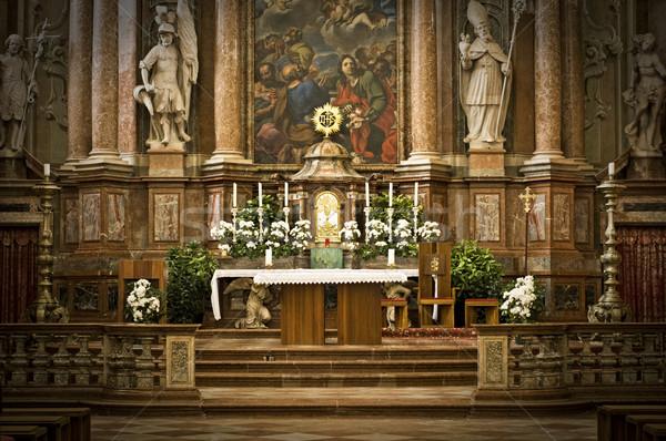 Altar abadía Austria edificio orar arquitectura Foto stock © tepic