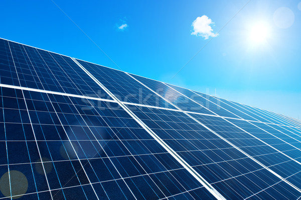 Solar Panel with Sun Stock photo © tepic