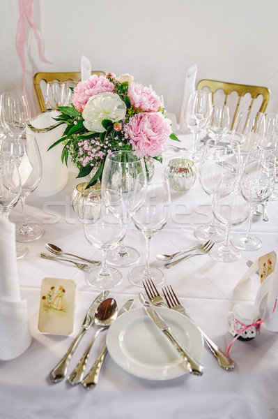 Table decor with flowers Stock photo © tepic
