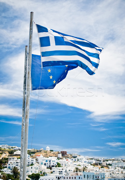 Greek and EU Flags Stock photo © tepic