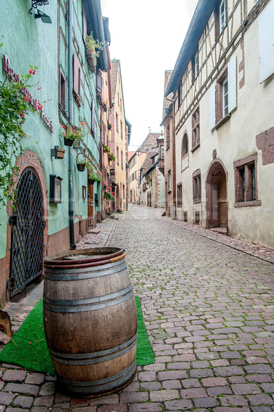 Old Alley with Wine Barrel Stock photo © tepic
