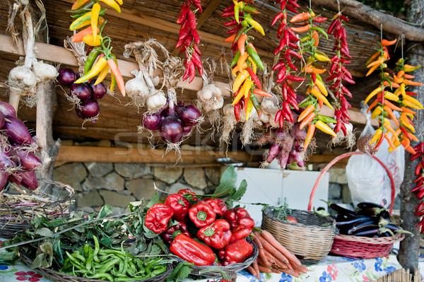カラフル 野菜 地中海 市場 スタンド 自然 ストックフォト © tepic