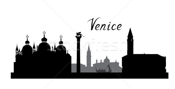 Venice city famous landmarks skyline. Travel Italy background Stock photo © Terriana
