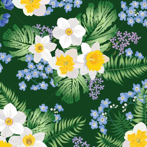 Patroon voorjaar tuin bloem Stockfoto © Terriana