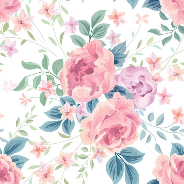 Floral fleur rose blanche fleurir Photo stock © Terriana