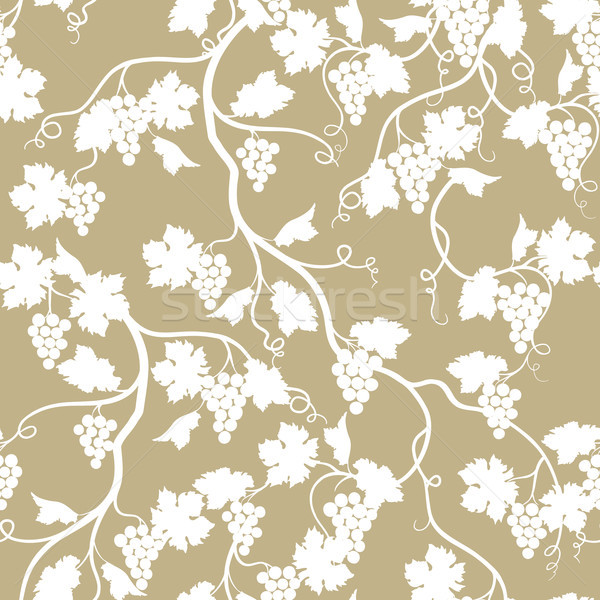 Grape branch seamless pattern. Wineyard garden. Floral background Stock photo © Terriana