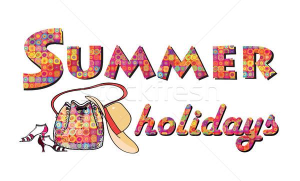 Hello nyár ünnepek borító nap üdvözlőlap Stock fotó © Terriana