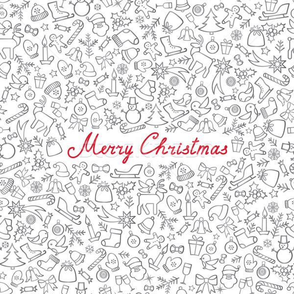 Karácsony ikon minta boldog tél ünnep Stock fotó © Terriana