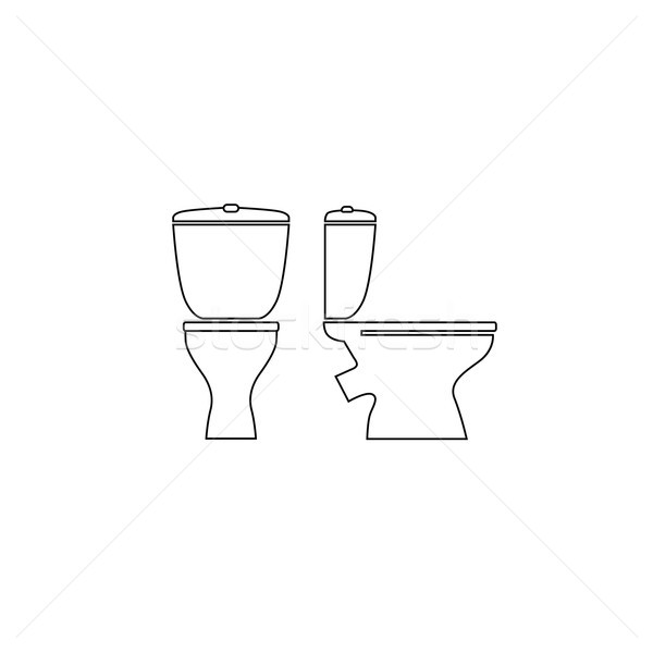 Toilettes chambre meubles signe salle de bain Photo stock © Terriana