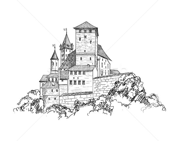 древних замок пейзаж башни здании Сток-фото © Terriana