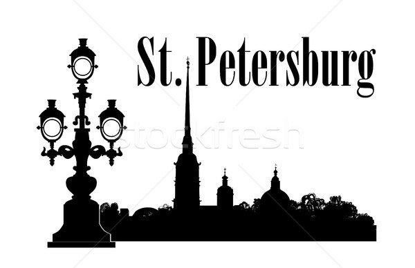Saint-Petersburg city, Russia. St. Peter & Paul Cathedral Russian travel background. Stock photo © Terriana