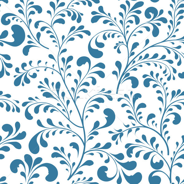 Floral leaf branch seamless pattern. Abstract ornamental flowers Stock photo © Terriana