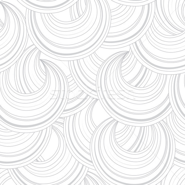 Abstract white circle line chaotic seamless pattern Stock photo © Terriana