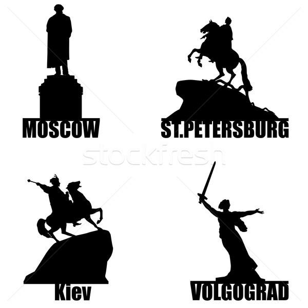 Russian city symbol silhouette set Stock photo © Terriana