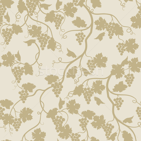 Floral seamless pattern with grape branch. Wineyard retro wallpa Stock photo © Terriana