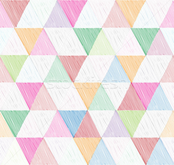 Abstract geometric seamless pattern with triangle. Ornamental white Stock photo © Terriana