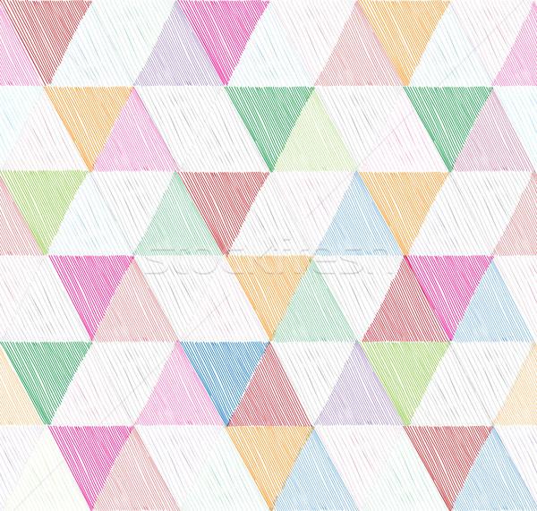 аннотация геометрический треугольник декоративный белый Сток-фото © Terriana