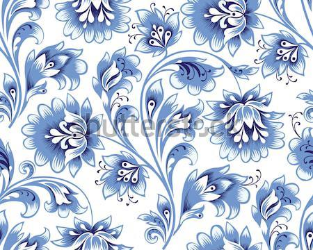 Floral seamless pattern. Flower ornamental festive background Stock photo © Terriana